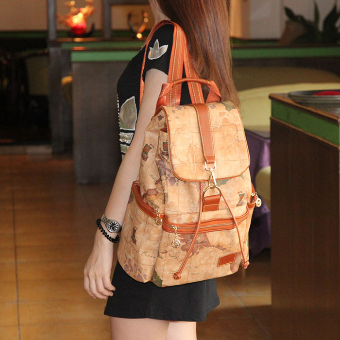 Vintage world map leisure backpacks on luulla gumiabroncs Gallery