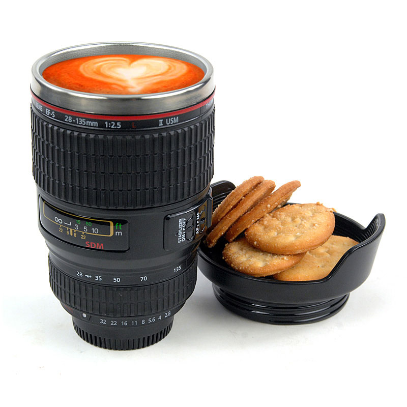 Creative Travel Camera Lens Mug &Coffee Cup