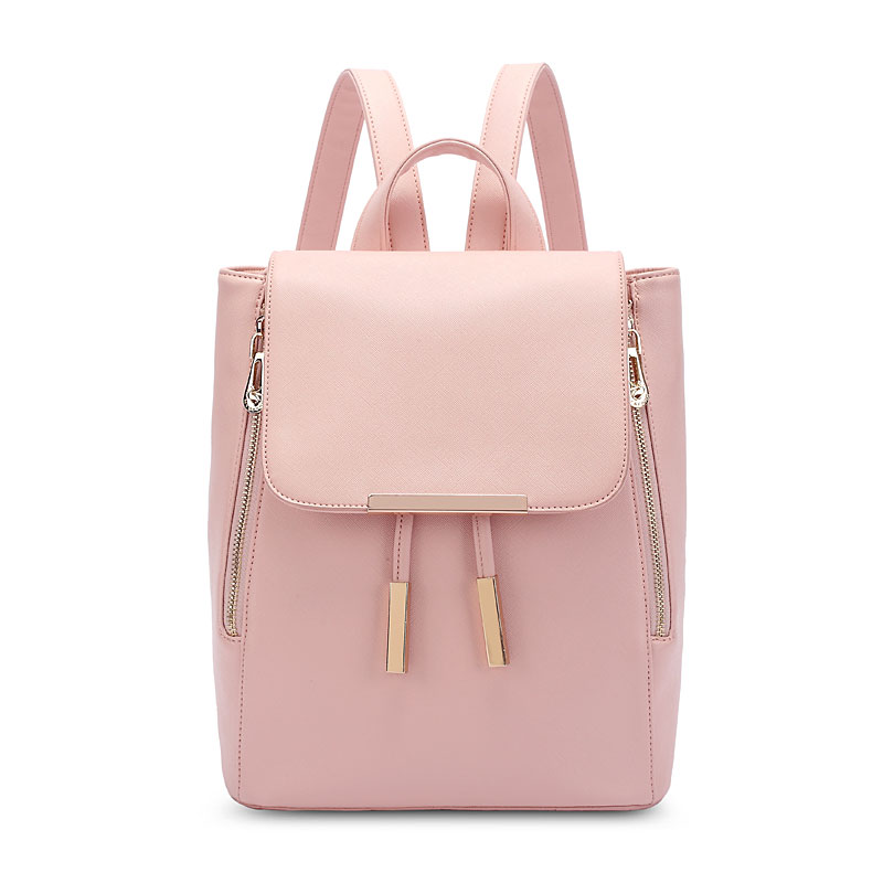 11b79b770d Funky Lady Solid Simple Square PU Drawstring Hasp Satchel Backpack ...