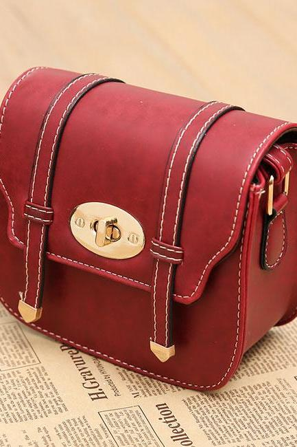 Buckle Mini British Style Women Messenger Bag Shoulder Bags