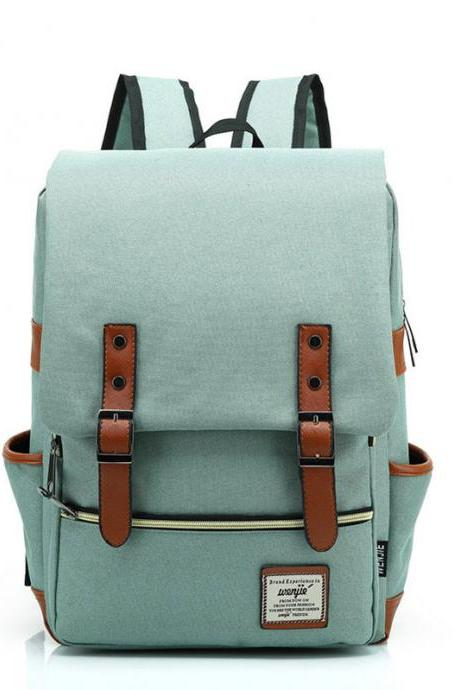 Fresh Canvas Travel College Backpack Leisure Backpack School Bag