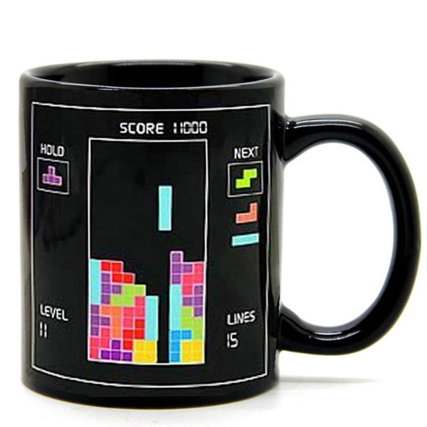 Tetris Color Changing Cup Coffee Cup