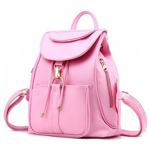Fresh Candy Color Choose Rucksack Side Zipper Bag School ...